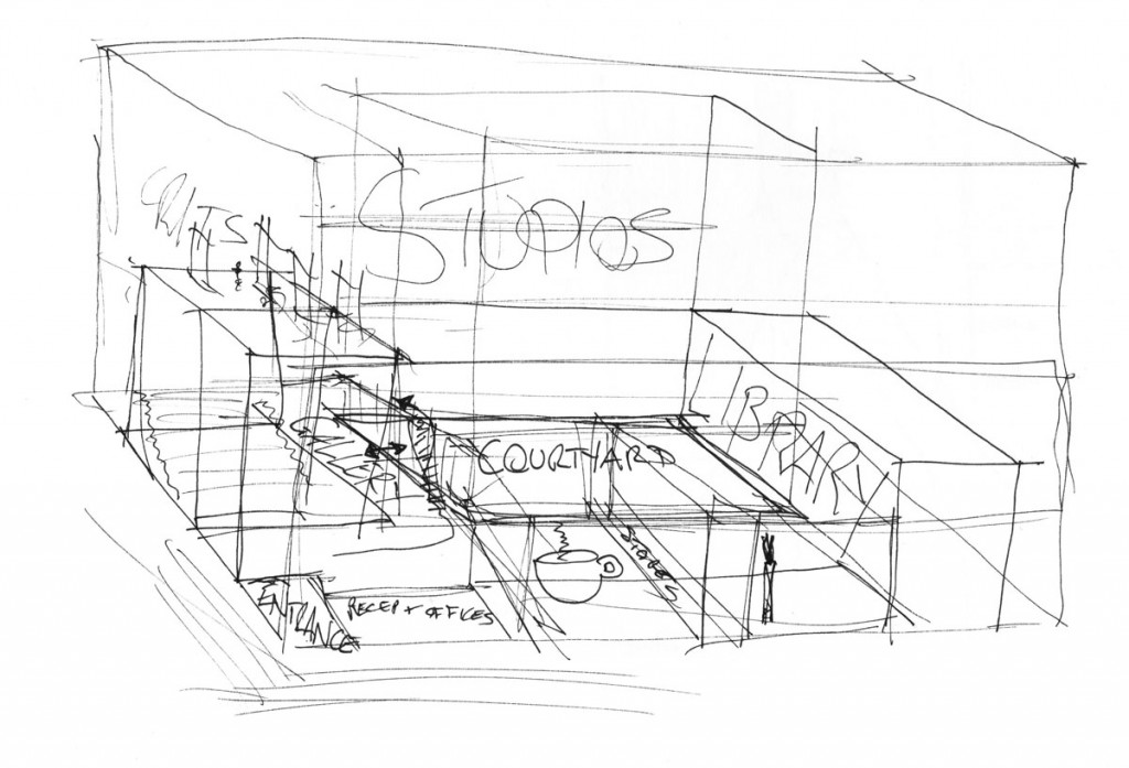Development Sketches of Architecture School