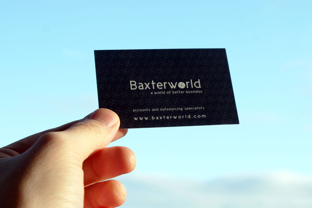 Business Card Design – Baxterworld